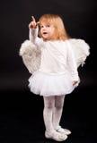 Fille d'ange dans le blanc Image libre de droits