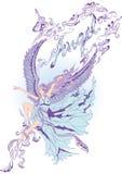 Fille d'ange de vol Image libre de droits