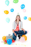 Fille d'anniversaire Photo stock