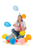 Fille d'anniversaire Images stock