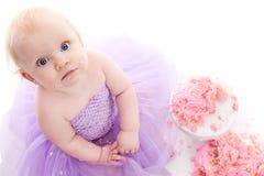Fille d'anniversaire photographie stock