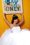 Fille d'anniversaire de Quinceanera Photo stock