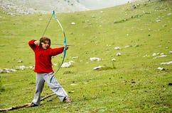 Fille d'Archer Images libres de droits