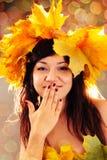 Fille d'automne. Photographie stock libre de droits