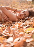 Fille d'automne Photo libre de droits