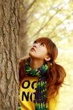 fille d'automne Images stock