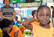 Fille d'école de l'Afrique Photos stock