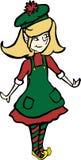 Fille d'elfe de Noël Images libres de droits
