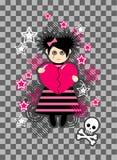 Fille d'Emo Image libre de droits