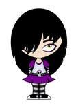 Fille d'emo de dessin animé Photo libre de droits