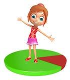Fille d'enfant avec le cercle Photos libres de droits