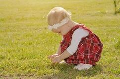 Fille d'enfant en bas âge sur le champ Image stock