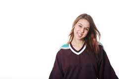 Fille d'hockey photos stock