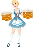 Fille d'Oktoberfest Photo stock