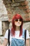 Fille d'une chevelure rouge Photos libres de droits