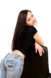 Fille dans des jeans photo libre de droits