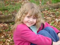 Fille dans des lames Photo libre de droits