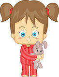 Fille dans des pyjamas Photo libre de droits