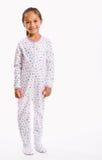 Fille dans des pyjamas de footie photographie stock
