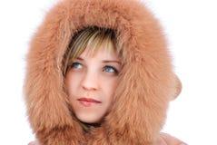 Fille dans des vêtements d'hiver Photos libres de droits