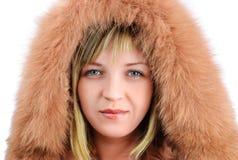 Fille dans des vêtements d'hiver Images stock