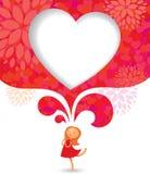 Fille dans l'amour illustration stock