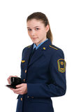 Fille dans l'uniforme Photo stock