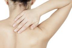 Fille dans la ceinture orthopédique image libre de droits