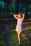 Fille dans la forêt Images libres de droits