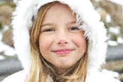 Fille dans la neige Photos libres de droits