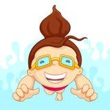 Fille dans la piscine Photos libres de droits
