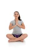 Fille dans la pose de yoga photo libre de droits