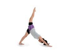Fille dans la pose de yoga photo stock