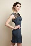 Fille dans la robe Photo stock