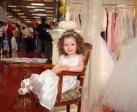 Fille dans la robe blanche Image stock