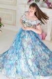 Fille dans la robe de boule Photographie stock