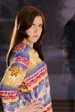 Fille dans la robe de hippie Images stock