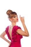 Fille dans la robe de soirée, avec le maquillage et la coiffure Photos libres de droits