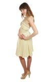 Fille dans la robe jaune Photo libre de droits