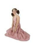 Fille dans la robe rose Images stock