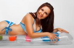 Fille dans le bikini Image libre de droits