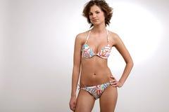 Fille dans le bikini Images stock