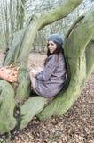Fille dans le bois Image libre de droits