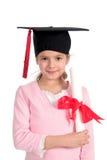 Fille dans le capuchon de graduation Photo libre de droits