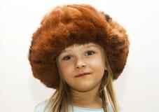 Fille dans le chapeau Photos libres de droits