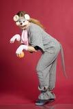 Fille dans le costume de souris Images stock