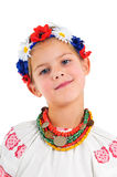 Fille dans le costume national ukrainien Images libres de droits