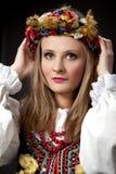 Fille dans le costume traditionnel Image libre de droits