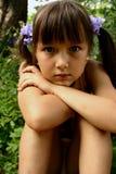 Fille dans le jardin Image libre de droits