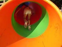 Fille dans le tunnel 2 Photo libre de droits